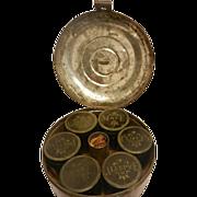 Vintage Round Spice Tin