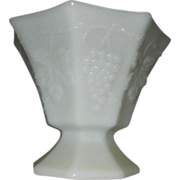 SOLD Vintage Anchor Hocking Milk Glass Open Bowl/Compote