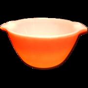 Vintage Anchor Hocking Fire King Orange Hombre Nesting Bowl