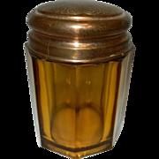 Vintage American Pressed Glass Tobacco Jar