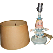 SALE Vintage Story Book Humpty Dumpty Table Lamp