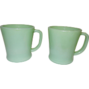 Vintage Fire King Jadite Coffee Cups