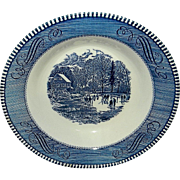 Vintage Currier & Ives Soup Bowl Early Winter Pattern by Royal
