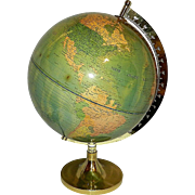 Vintage Untitled Illuminated World Globe