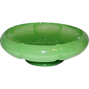 Vintage Fenton Jadeite Art Glass Candy Bowl