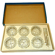Vintage Open Salt Cellars Set