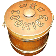 Vintage Wooden Cookie Bucket