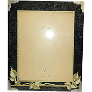 Vintage Art Deco Picture Frame Reverse Painted Glass