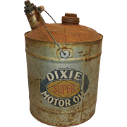 Vintage Dixie Motor Oil Can