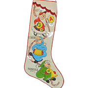 Vintage Chipmunks Christmas Stocking