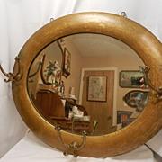 SALE Vintage  Hall Tree Mirror- Beveled