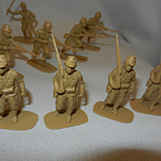 Vintage British AirFix Toy Japanese Soldiers