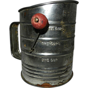 Vintage Flour Sifter by Bromwells