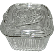 Vintage Federal Glass Refrigerator Container
