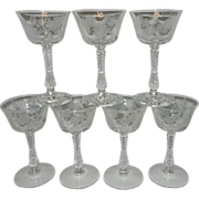 Vintage Intaglio Wine or Champagne Glass