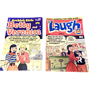SOLD Vintage  Betty and Veronica and Laugh Comic Books - Contains Archie 1952
