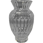 Vintage Large Leaded Cut Crystal Urn Vase