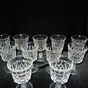 Vintage Noritake Perspective Crystal Wine Glasses