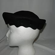 Vintage Bode Felt Evening Hat
