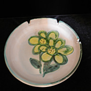 Vintage Pacific Stoneware Ashtray- Signed B Welsh