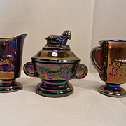 Vintage Imperial Glass Mini Lamb Childs Set by Lenox