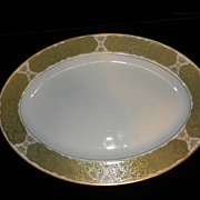 "Vintage Sango Chantilly China 14"" Platter Pattern 3692"