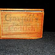 Vintage Gorton's Codfish Wood Box