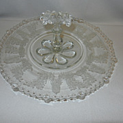 Vintage Paden City ~GAZEBO~ Etch Center Handled Serving Tray
