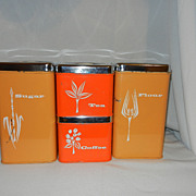 Vintage Lincoln BeautyWare Canister Set