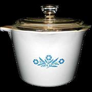 Vintage Corning Ware Cornflower Blue Saucepan
