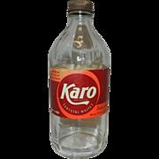 Vintage 1942 Karo Syrup Bottle
