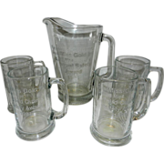 Vintage Pitcher and Mugs from First Miss Gold Inc- Getchell Mine