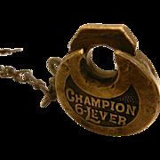 SALE Vintage Miller Pancake Padlock – Champion 6 Lever