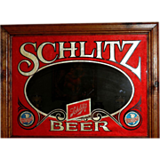 Vintage Schlitz Mirror Bar Sign