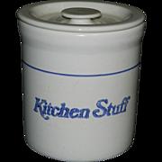 Vintage Gaetano Pottery Crock Grease Jar- Kitchen Stuff