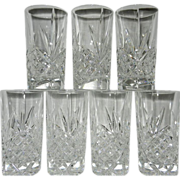 Leaded Crystal Pineapple Design High Ball or Water Glasses