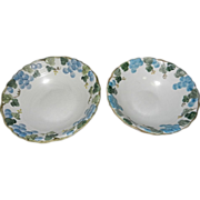 "Sculptured Grape Poppytrail 8.5"" & 9.5"" Bowls"