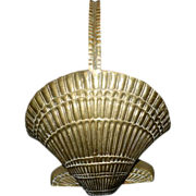 SOLD Vintage Brass Sea Shell or Scallop Basket
