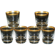 Vintage Gold Rim Shot Glasses