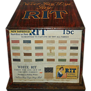 Vintage Metal Rit Dye Store Display Cabinet