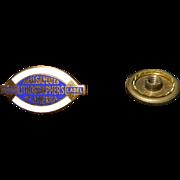 Vintage Amalgamated Lithographers Union Pin