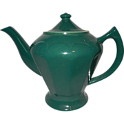 Vintage Hall China Green 6 Cup Albany Teapot