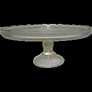 "Vintage 10"" Lyre Cake Plate"