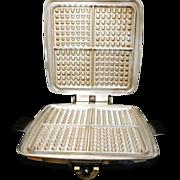 Vintage Sunbeam Model CG Waffle Maker and Griddle