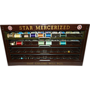 Antique Star Mercerized Metal Thread Display Case -American Thread Company