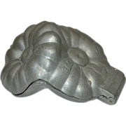 Vintage Pewter Flower Ice Cream Mold
