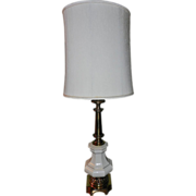 Vintage Stiffel Lamps- Porcelain and Brass