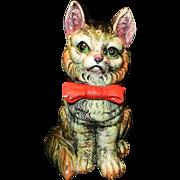 Vintage Majolica Style Kitty Cat