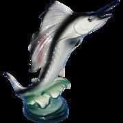 Vintage Marlin or Swordfish Ceramic Figurine