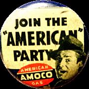 SALE PENDING Vintage Amoco American Oil Company Pinback Button